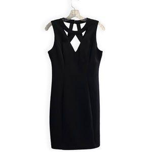 GUESS Caged Scuba Black Dress Size 10